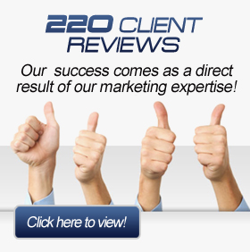 220 Marketing Client Reviews